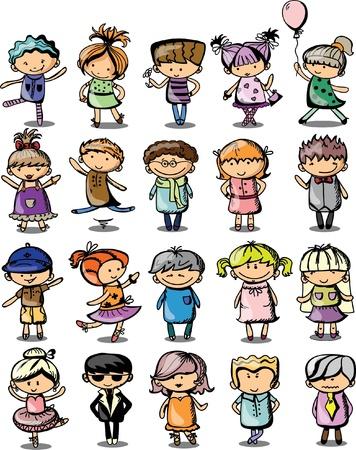 Cute cartoon kids Stock Vector - 19356793