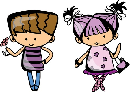 Cute cartoon kids Stock Vector - 19356768