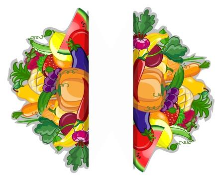 Cartoon verdura e frutta