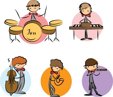 set of Music Doodles Vector