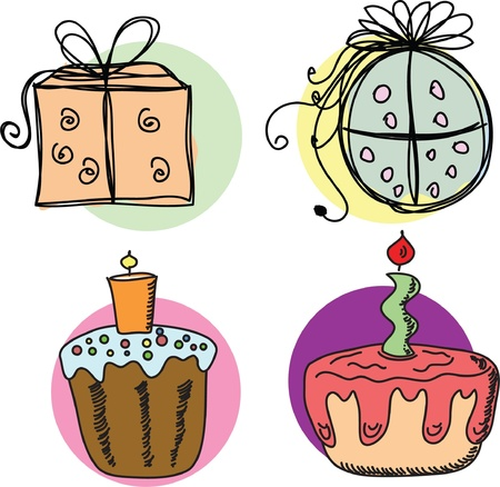 Sketches gift packages  Vector