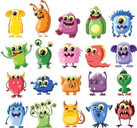 beast creature: Cartoon cute monsters