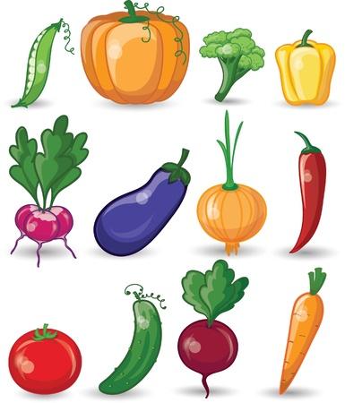 limon caricatura: Cartoon verduras y frutas Vectores