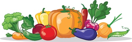 Cartoon vegetables  Vector