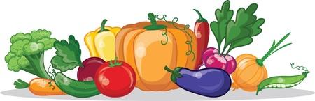 cucumbers: Cartoon vegetables  Illustration