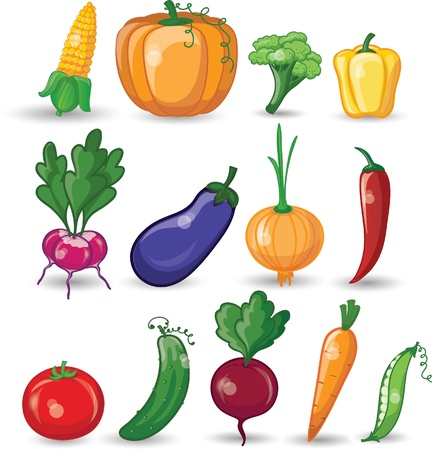 Cartoon vegetables 版權商用圖片 - 20302578