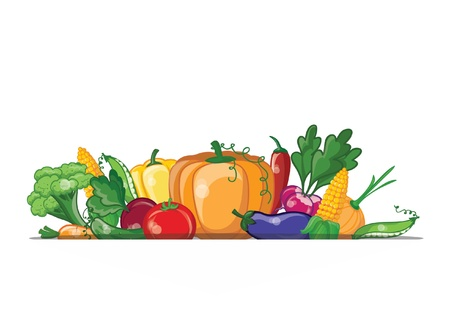 Cartoon vegetables, vector background  Stock Vector - 20302577