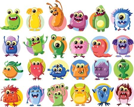 toy story: Cartoon cute monsters