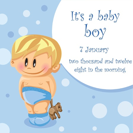 hysterical: Illustration of baby boy