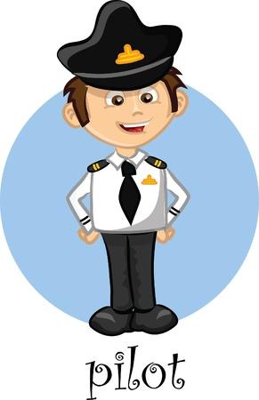 Personaje de dibujos animados - piloto