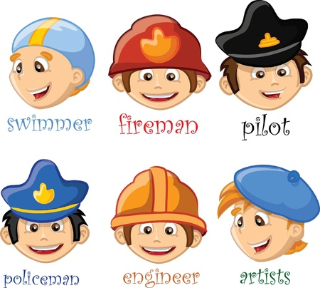 swim cap: Cartoon characters