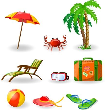 luggage tag: Travel icons
