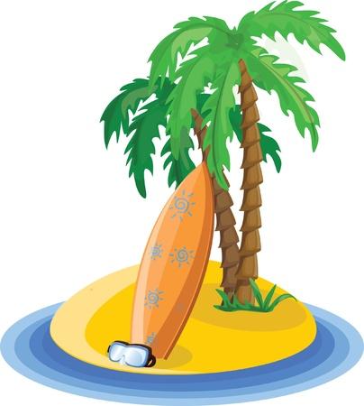 spanking: Travel vacation background Illustration