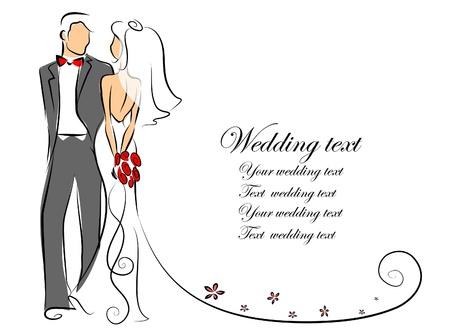 Silhouette della sposa e dello sposo Archivio Fotografico - 20752298
