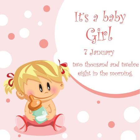promenade: Vector illustration of baby girl