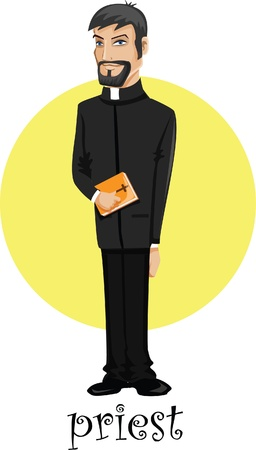 Cartoon character priest  Vector