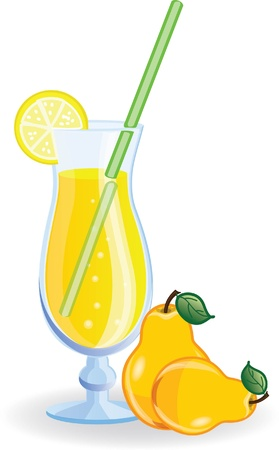 acid colors: Pear cocktail picture  Illustration