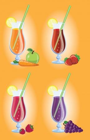 acid colors: Set of different Fruit cocktails  picture