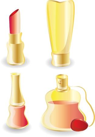 varnish: Make-up icons - vector icon set  Illustration