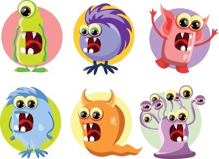 Cartoon cute monsters Stock Vector - 22095303
