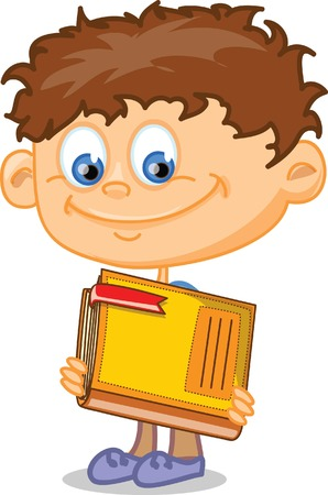 Pupils hold school things Vector