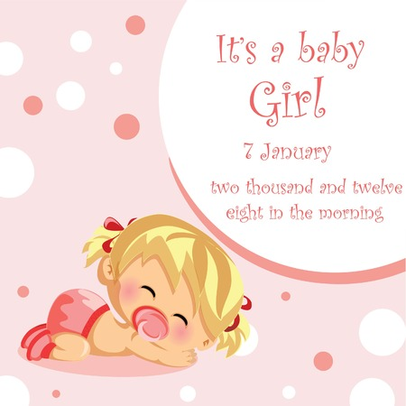 hysterical: Vector illustration of baby girl, background  Illustration