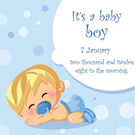 hid: Vector illustration of baby boy, background