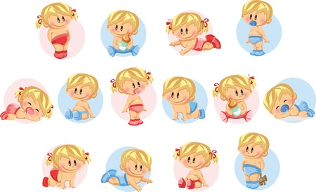 Vector illustration of baby boys and baby girls Stock Vector - 22470329