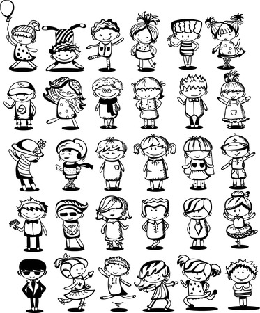 zeichnung: Cute cartoon kids