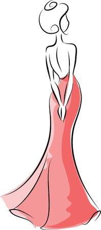 woman sketch: Fashion woman  Illustration