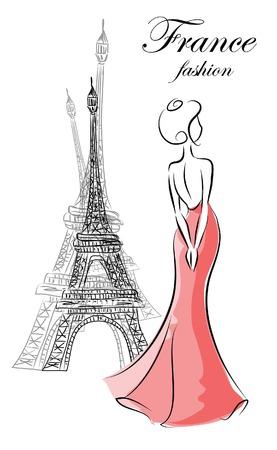 Fashion woman in France