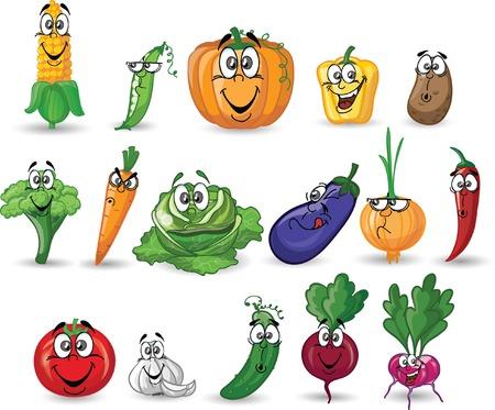 tomato cartoon: Cartoon vegetables  Illustration