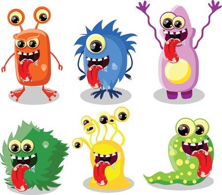 funny creature: Cartoon cute monster  Illustration