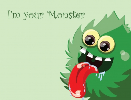 whimscal: Cartoon cute monster, background