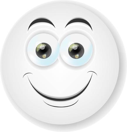 Cartoon face with emotion Banco de Imagens - 22810803
