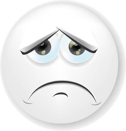 Cartoon gezicht met emotie