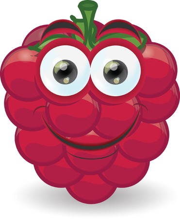 Cartoon raspberry with emotion