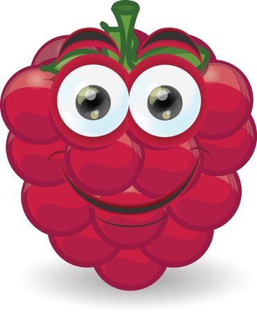 raspberry: Cartoon raspberry with emotion