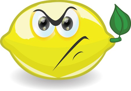 Cartoon lemon with emotion