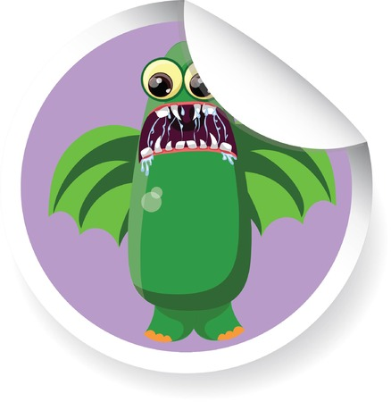 Cartoon cute monster  Vector