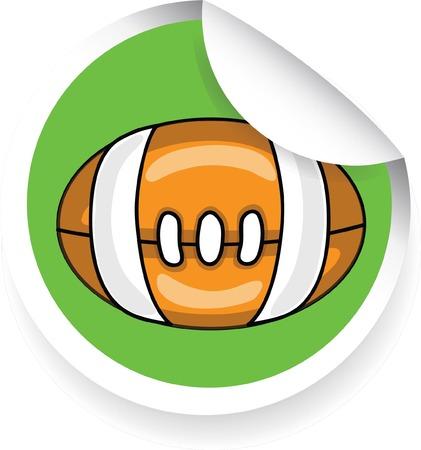 pelota caricatura: Pegatina con bola de la historieta
