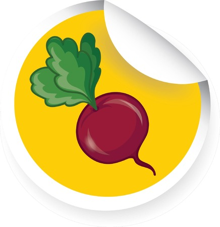 beets: Sticker with cartoon beets