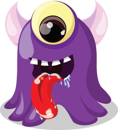 whimscal: Cartoon cute monster  Illustration