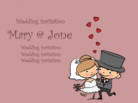 Cartoon wedding pictures Stock Vector - 23984615