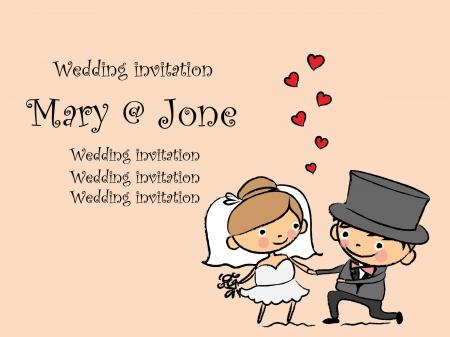 bridal couple: Cartoon wedding pictures