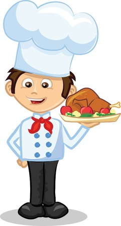 Cartoon character - cute cook  Vector