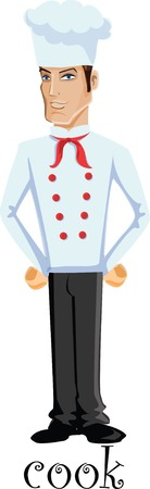 Cartoon character - cook  Vector