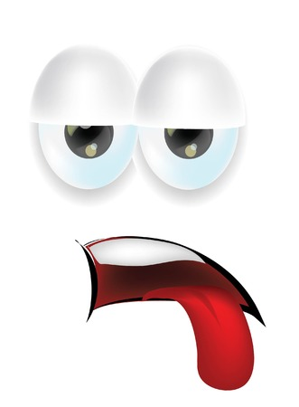 angry person: Cartoon faces with emotions  Illustration