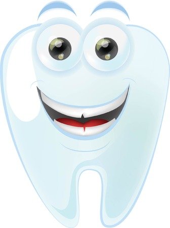 dentist icon: Cartoon cute tooth with different emotions