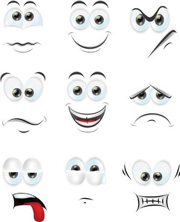 maquillaje infantil: Caras de la historieta con las emociones
